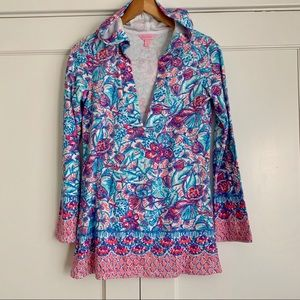 Lilly Pulitzer Higgs Hooded Tunic Cover Up